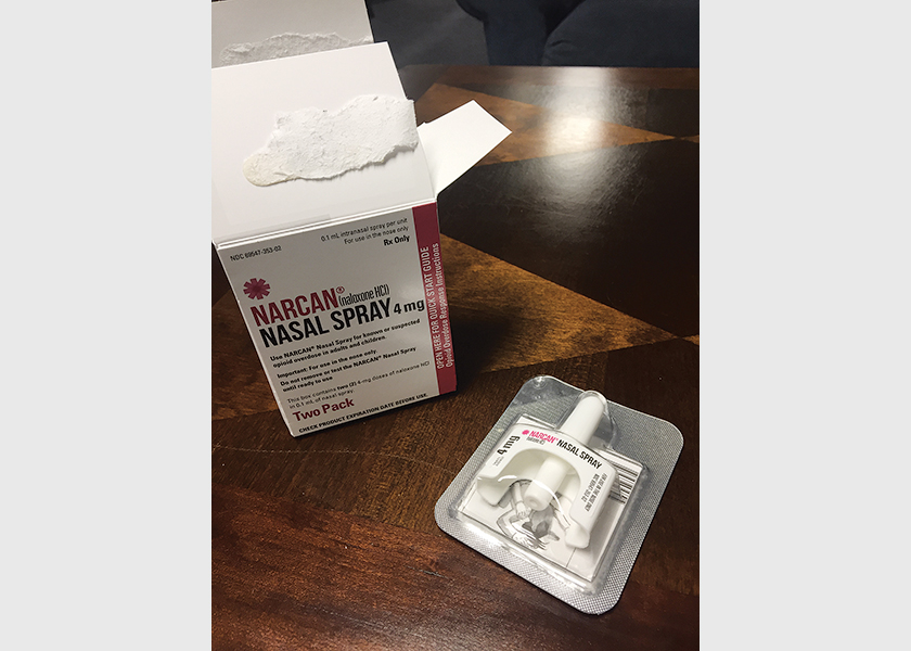 SAVE A LIFE: Naloxone (Narcan) nasal spray overdose kits are available to the community for free, as long as a brief training to learn how to use the kit is completed. Photo courtesy Tahoe Truckee Future Without Drug Dependence
