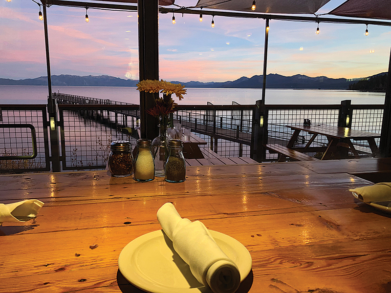 DINNER AND A VIEW: Try Za's Lakefront to breathe in the mountain landscape. Courtesy photo