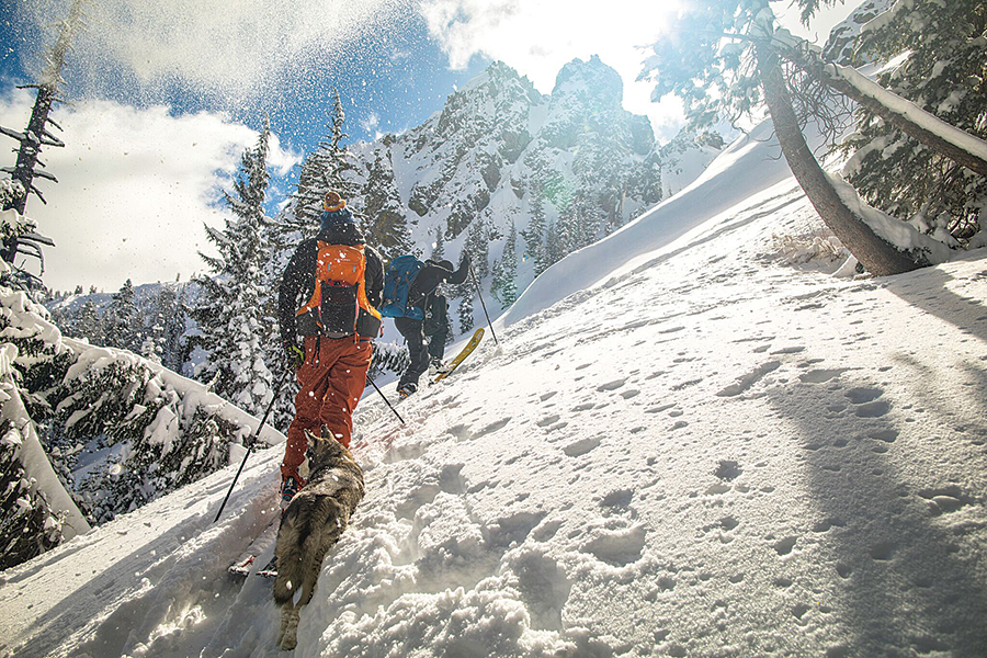 JAN. 25 to 27, AVALANCHE TRAINING: What better way to get schooled in avalanche rescue techniques than on the mountain itself? Check out Alpenglow's AIARE 1 avalanche course. Photo courtesy Alpenglow Sports