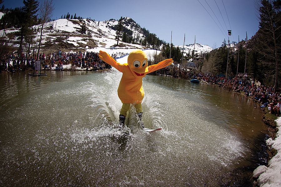 DATE TBD, WHY'D THE CHICKEN CROSS THE POND?: A legendary event at Squaw Valley you simply don't want to miss. Courtesy photo